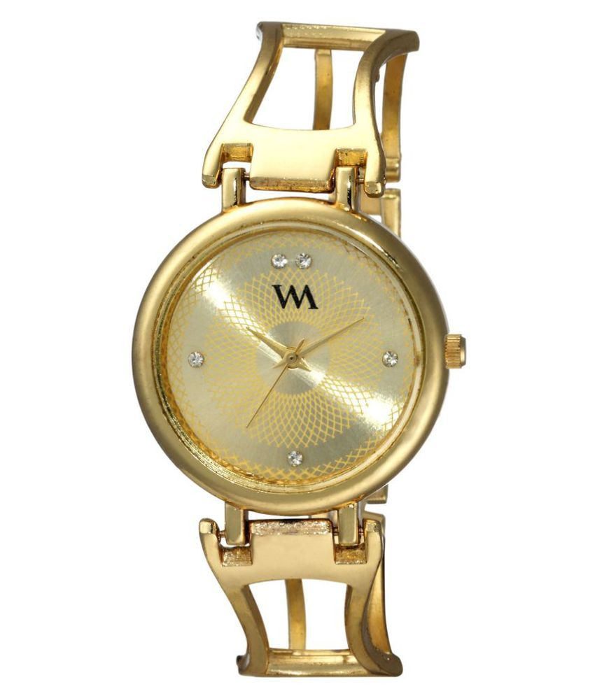 b8b6ab2c5dc Watch Me Gold Dial Gold Stainless Steel Strap Analog watch for Girls  WMAL-139twm Price in India  Buy Watch Me Gold Dial Gold Stainless Steel  Strap Analog ...