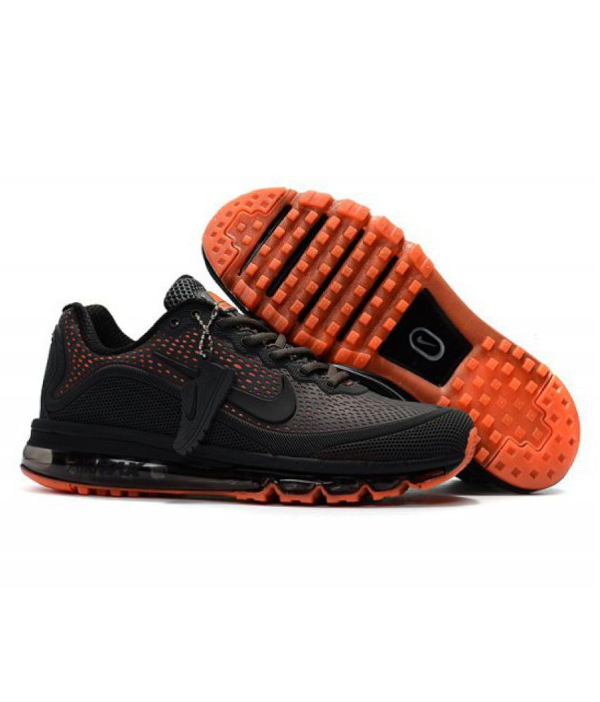 pretty nice 90d01 7fbb4 Nike AIRMAX 2018 Black Training Shoes