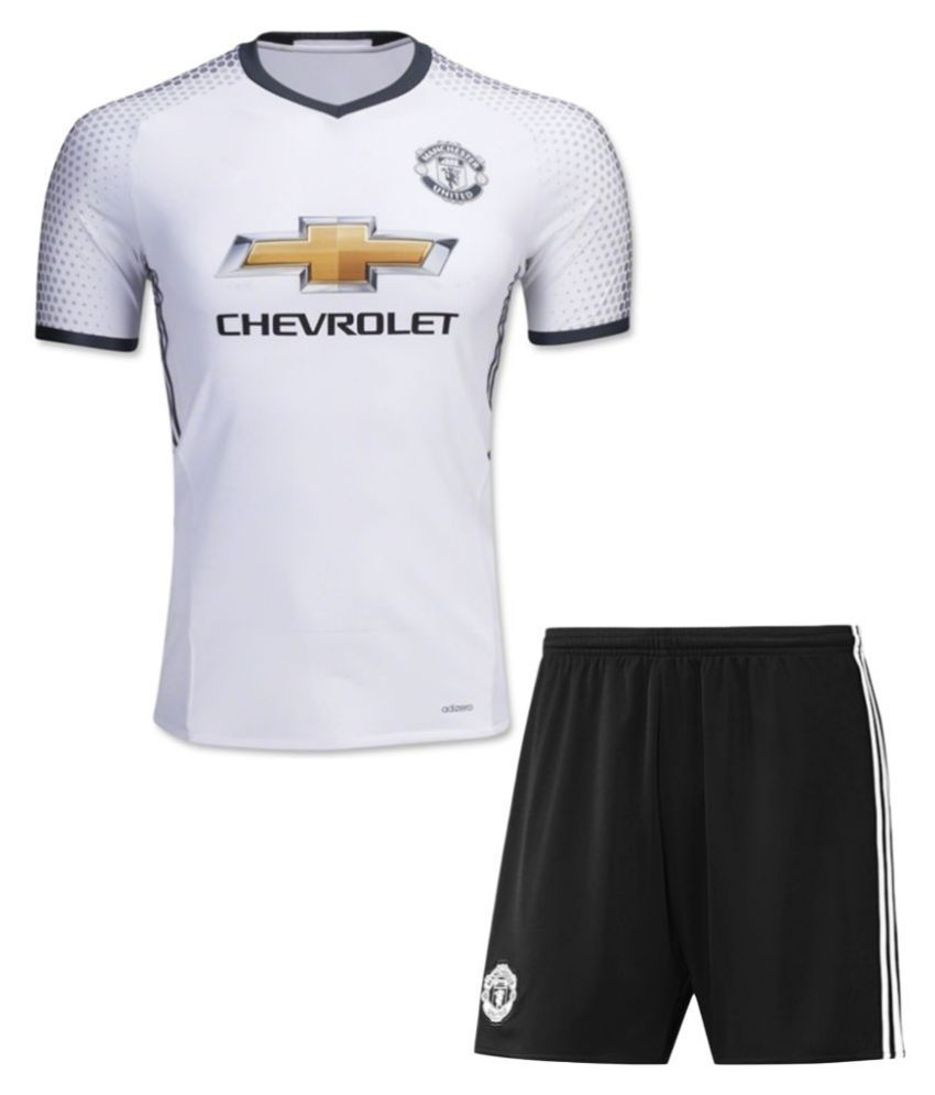 Manchester United F.C. White Polyester Jersey