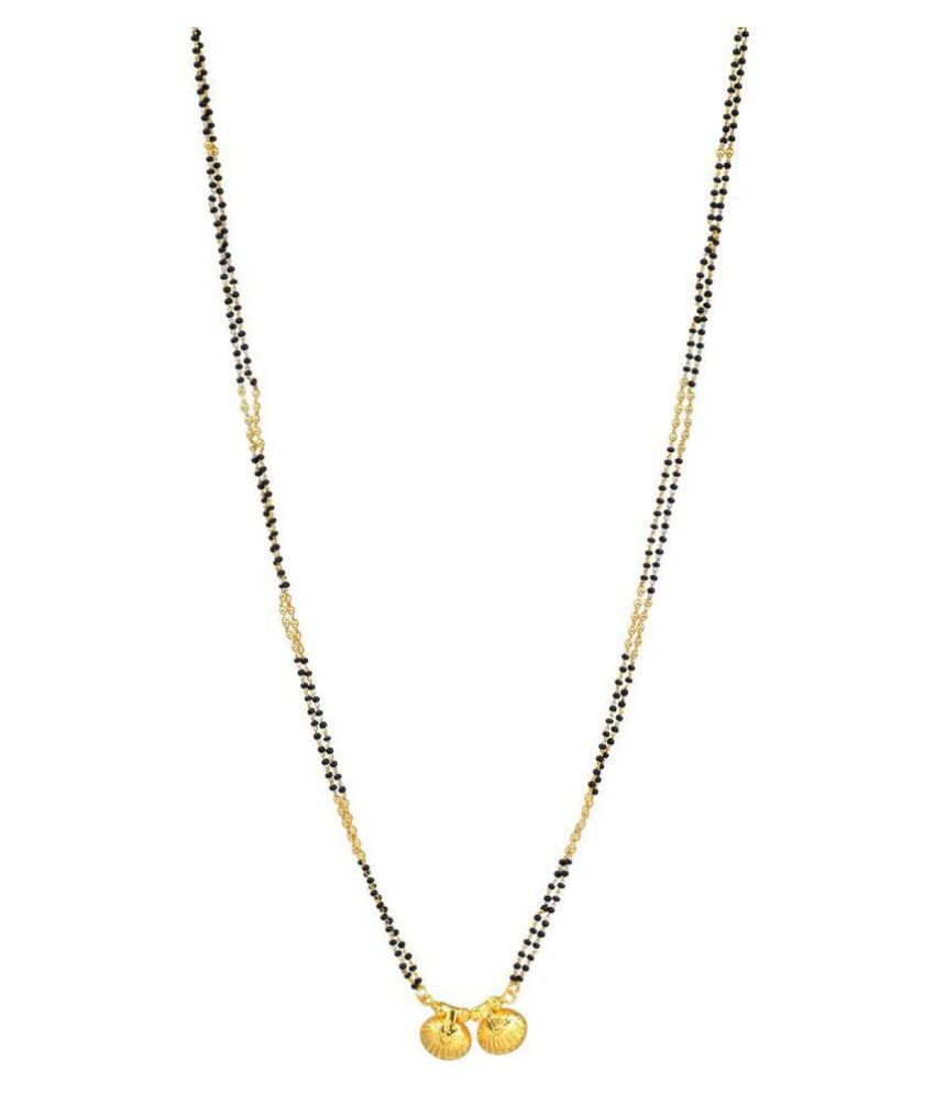 0e5f218555b ... Memoir Gold Plated Carved Double Wati Simple And Sober Mangalsutra For  Women ...