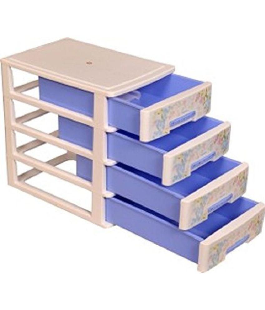 ... Blue Nayasa Deluxe Tuckins-14 Plastic Storage Drawer 4 Drawers Blue  sc 1 st  Snapdeal & Nayasa Deluxe Tuckins-14 Plastic Storage Drawer 4 Drawers Blue ...