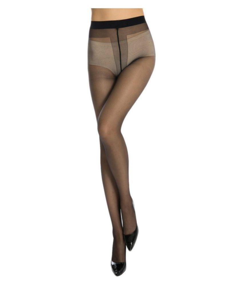 61ae8877f Neska Moda Anfanna Women s Black Panty Hose Long Comfort Stockings Tights   Buy Online at Low Price in India - Snapdeal