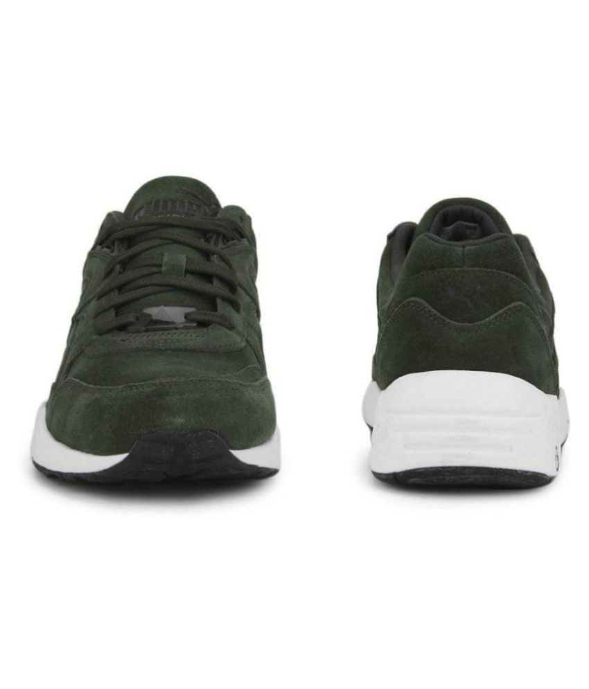 Puma R698 Allover Suede Men Sneakers Olive Casual Shoes - Buy Puma ... 4ea593963