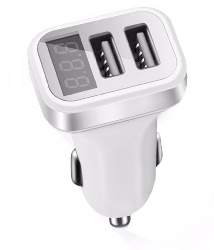 Shopizone Car Mobile Charger 2 USB Port White: Buy Shopizone Car ...