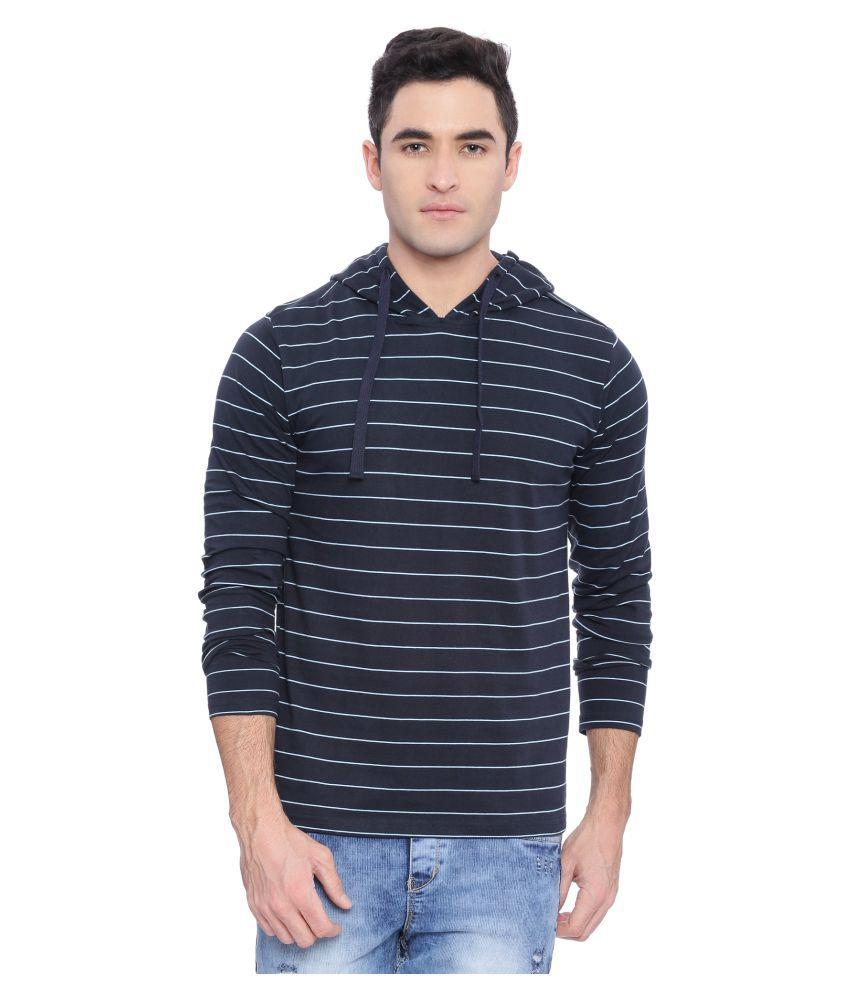 Deezeno Navy Hooded T-Shirt