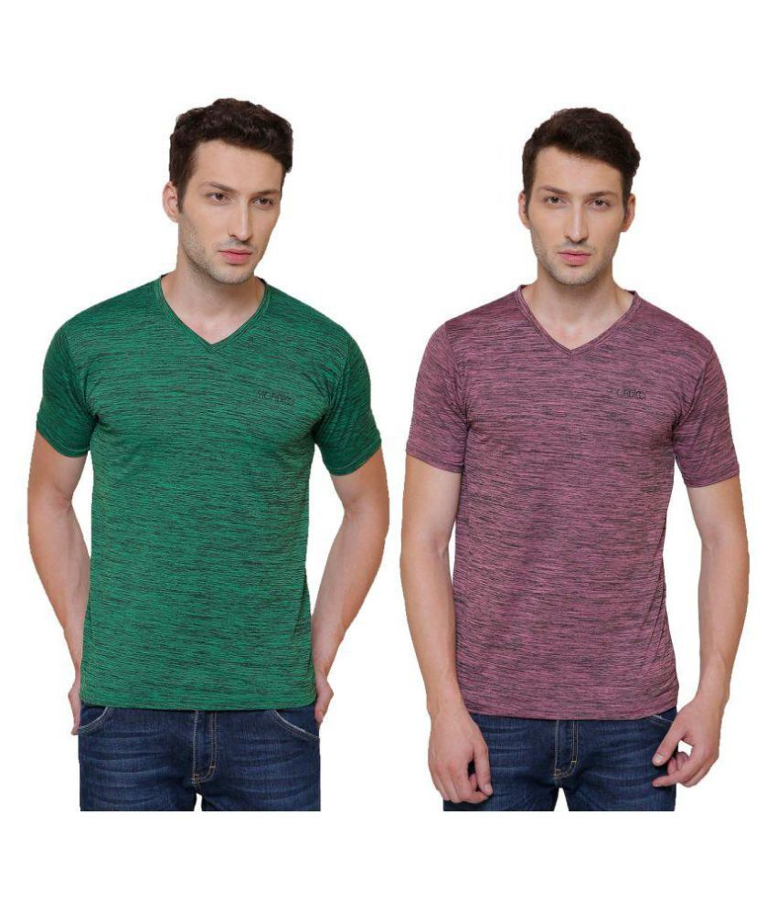 Pali Multi V-Neck T-Shirt Pack of 2