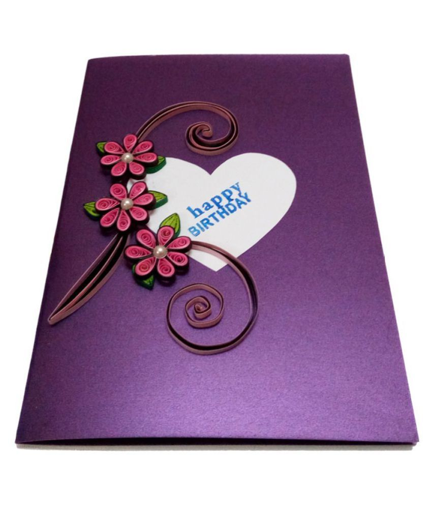 handmade paper quilling happy birthday greeting card buy