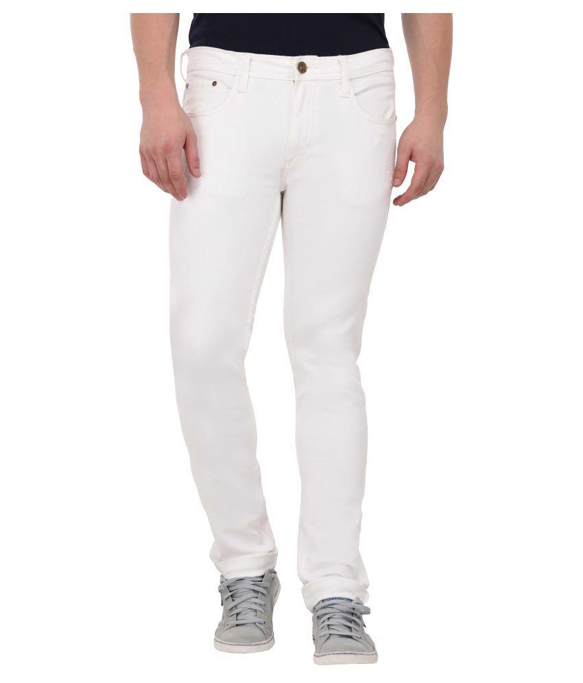 MSG White Regular Fit Jeans