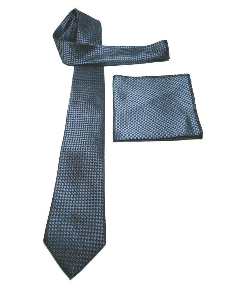 Mentiezi Gray Printed Micro Fiber Necktie