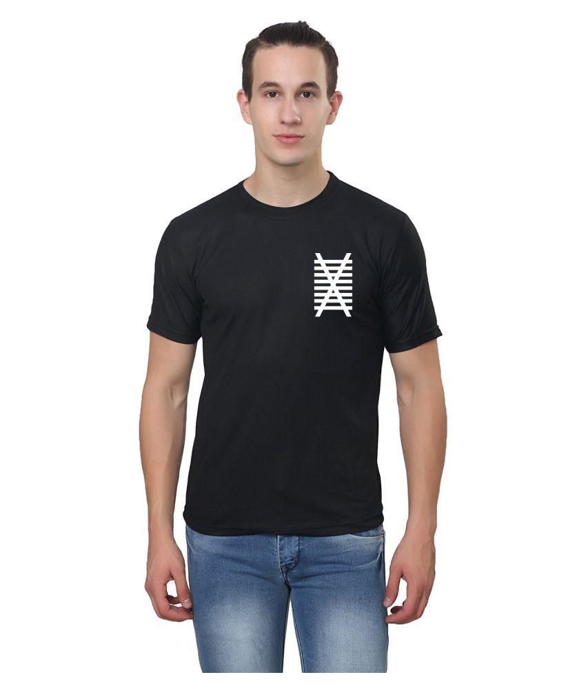 Illusion Black Round T-Shirt