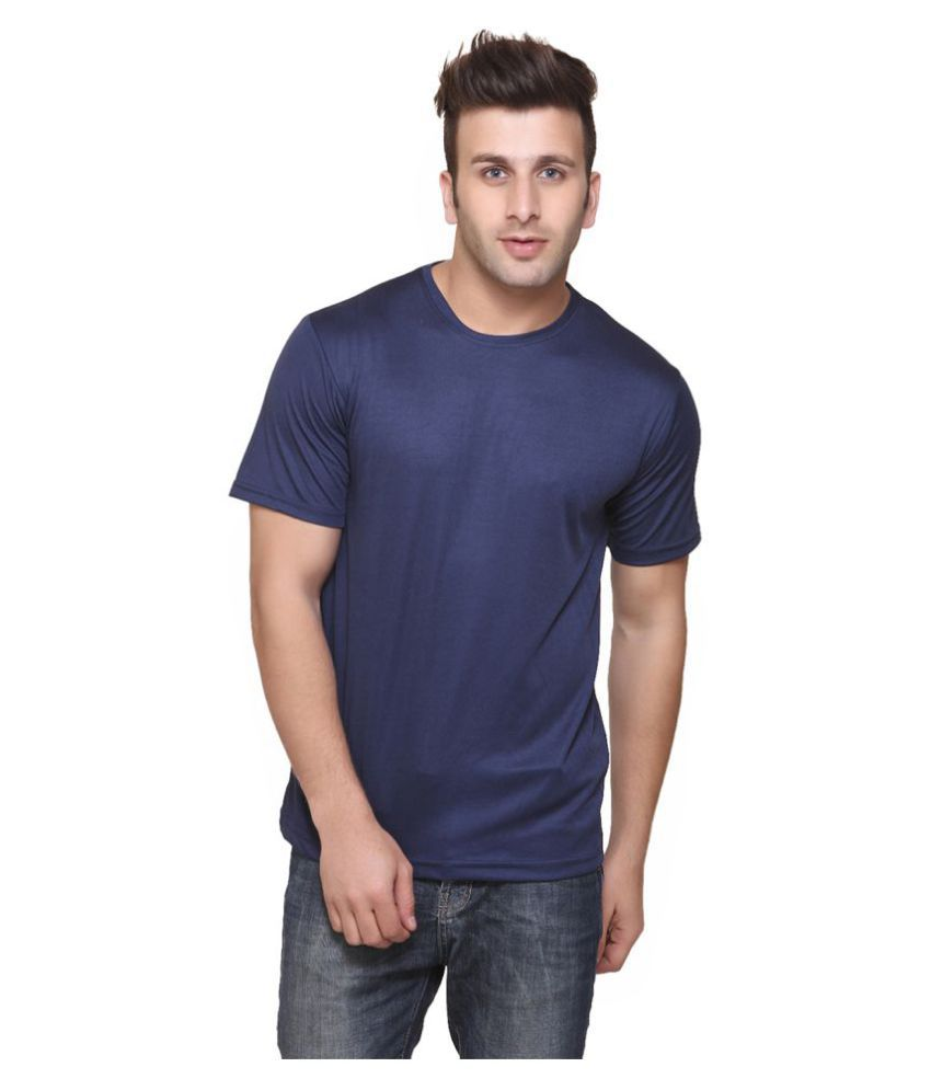 FUNKY GUYS Navy Polyester T-Shirt Single Pack
