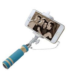 Maddcell Blue Aux Wire Selfie Stick - 90 cm