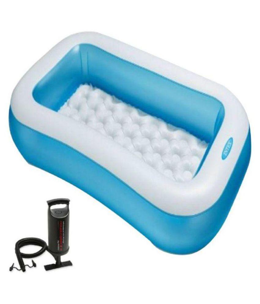 INTEX 5 FEET BATH TUB CUM RECTANGULAR POOL WITH INTEX AIR PUMP - Buy ...