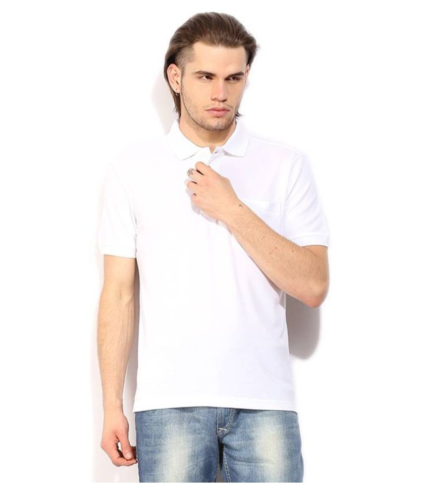 Queen overseas White Cotton Polo T-Shirt