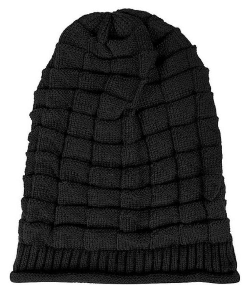 11f7952382d MSC Black Plain Wool Caps MSC Black Plain Wool Caps ...