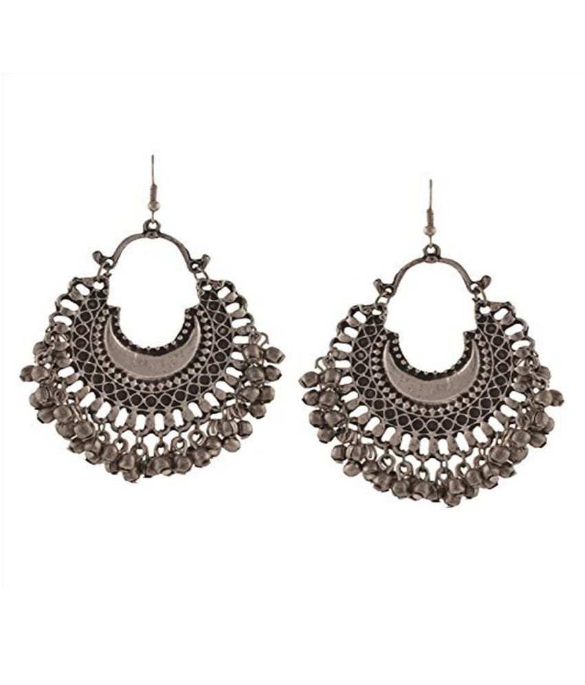 3246effe9 e-streetshop Afghani Alloy Silver Chandbali Jhumka - Buy e-streetshop  Afghani Alloy Silver Chandbali Jhumka Online at Best Prices in India on  Snapdeal