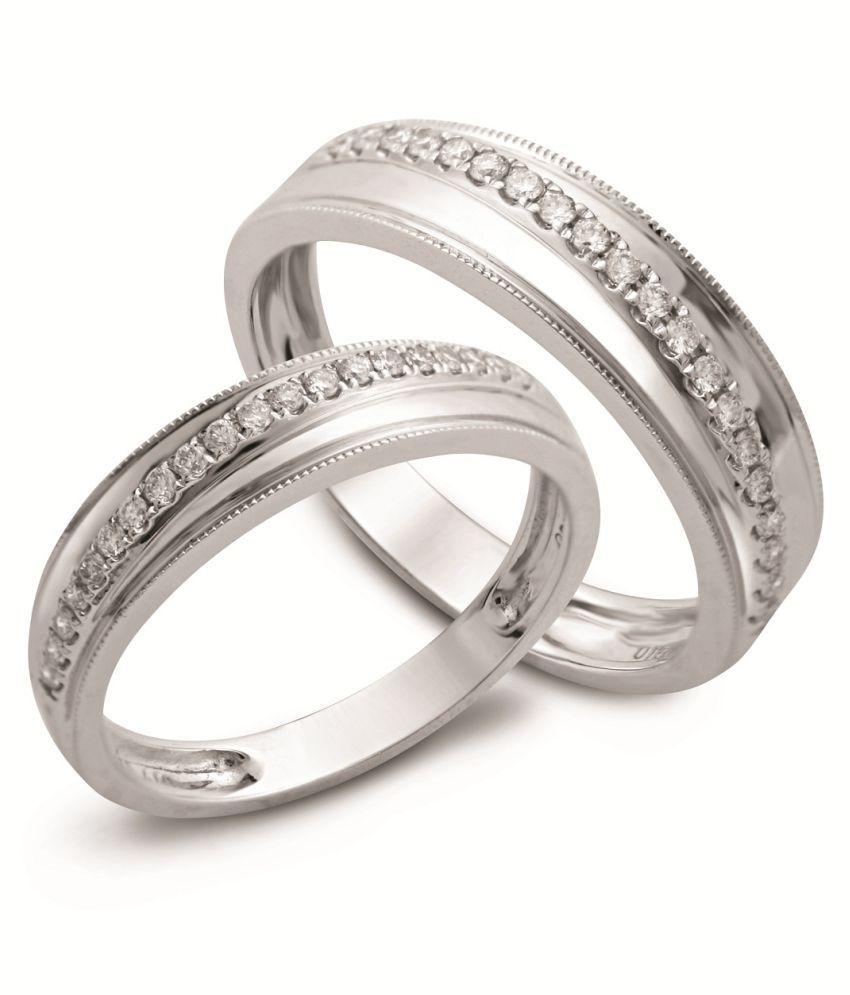 SILVERISH 92.5 Silver Couple Bands
