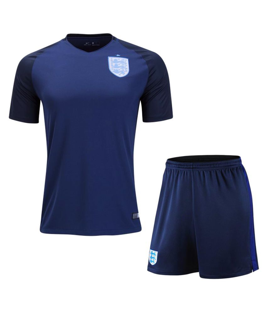 England Blue Polyester Jersey