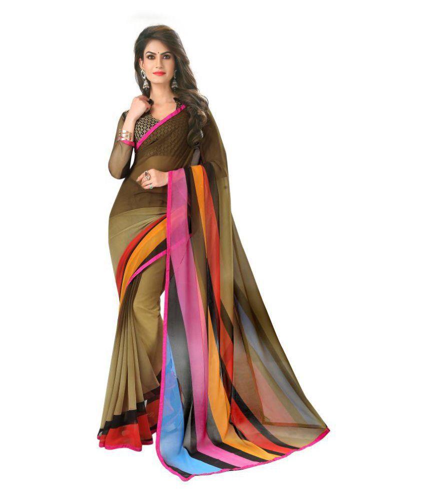 Harikrishna Enterprise Multicoloured Bangalore Silk Saree