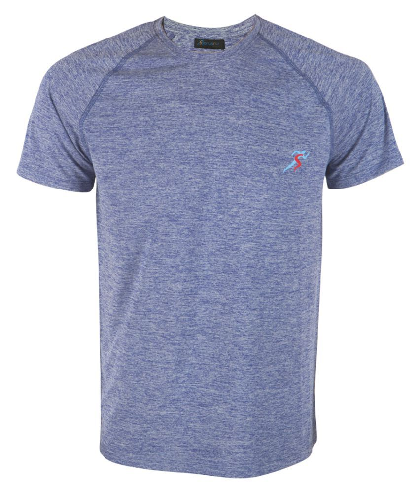 SPORTSNU Blue Polyester T-Shirt Single Pack