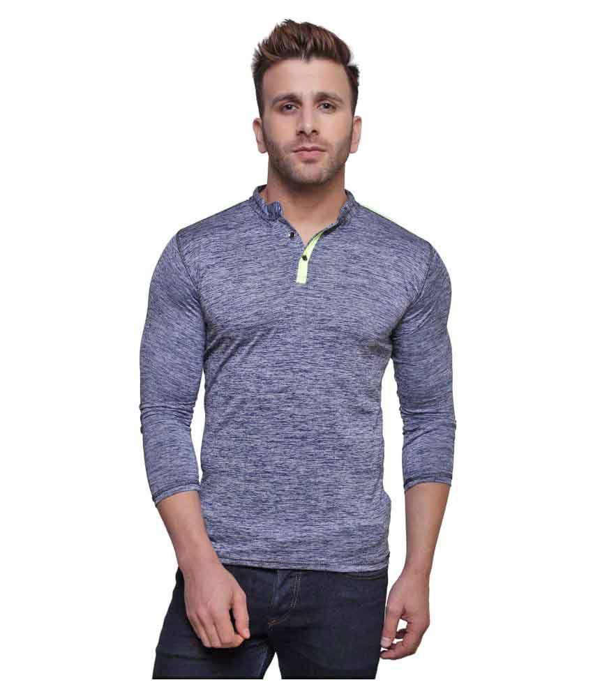 Rakshita's Collection Blue Henley T-Shirt