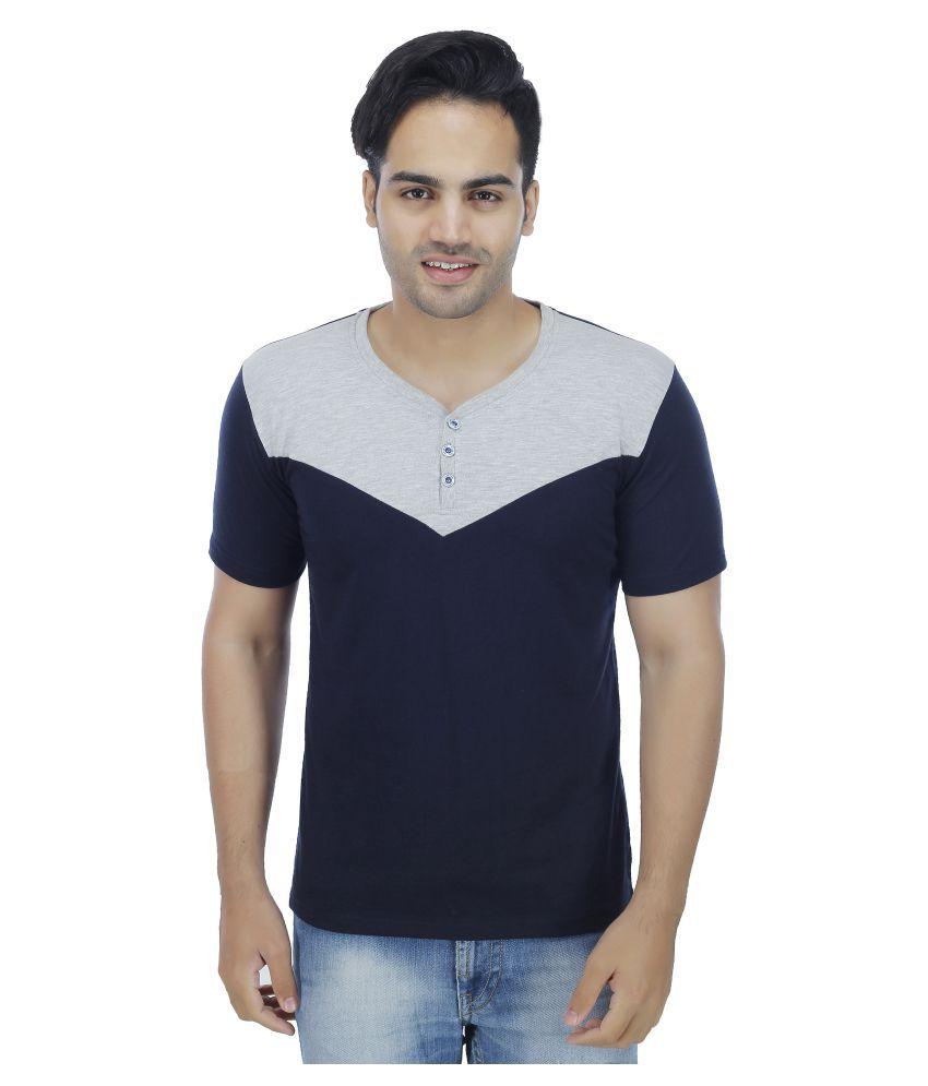 Fashion Beats Navy Henley T-Shirt