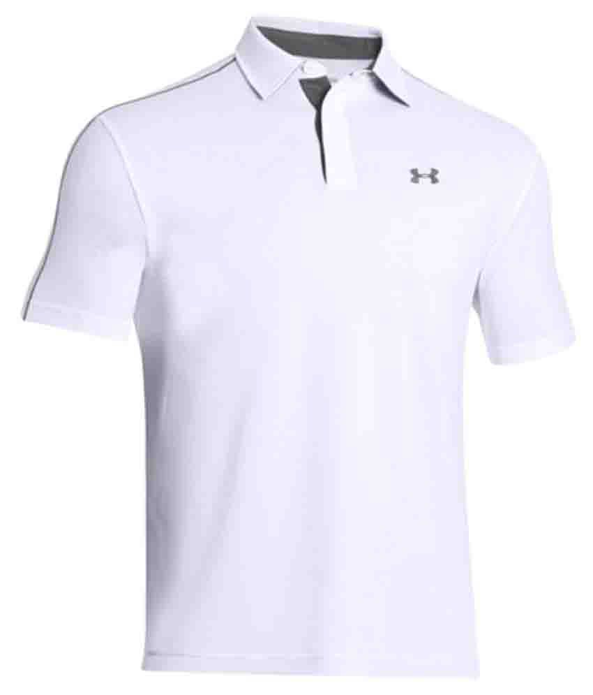 b346131ca0fe Under Armour White Polyester Polo T-shirt