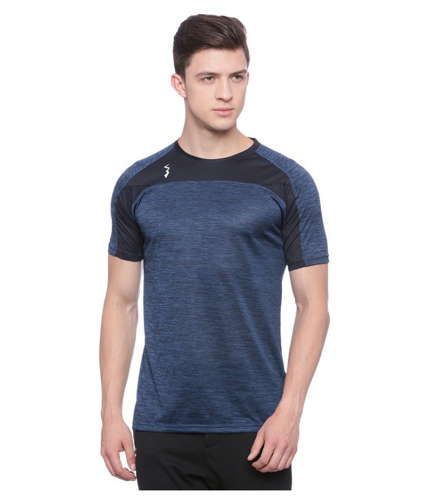 Campus Sutra Blue Polyester T-Shirt Single Pack