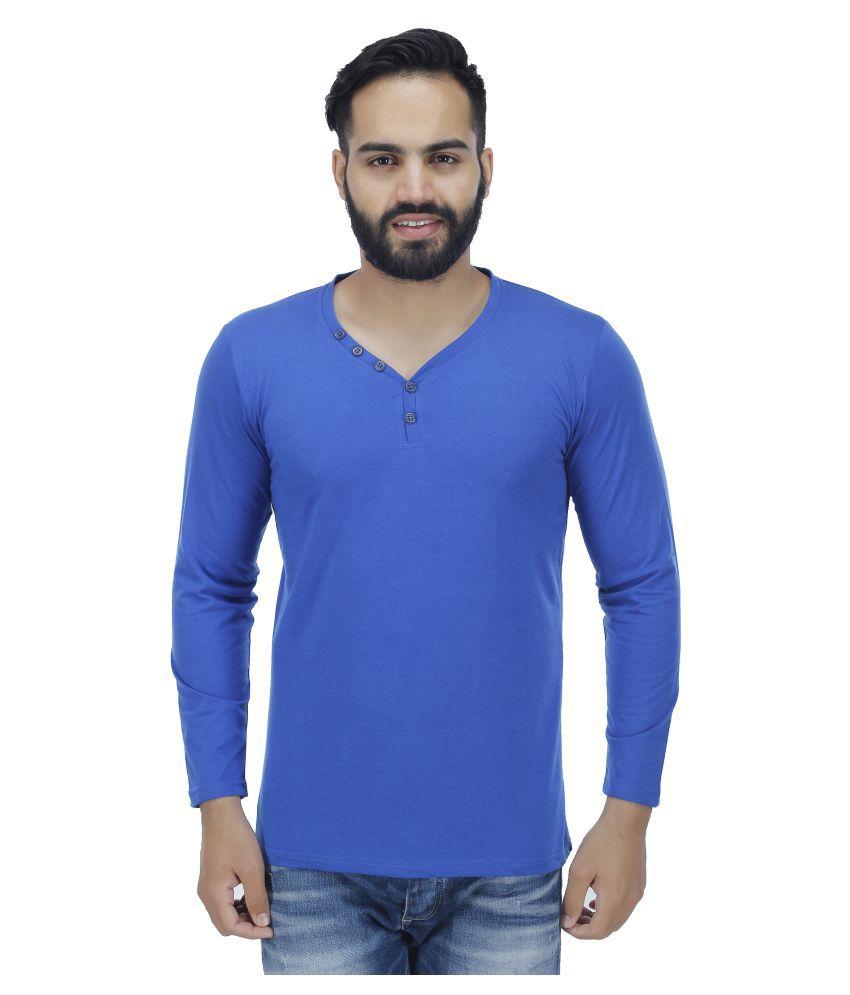 Fashion Beats Blue V-Neck T-Shirt