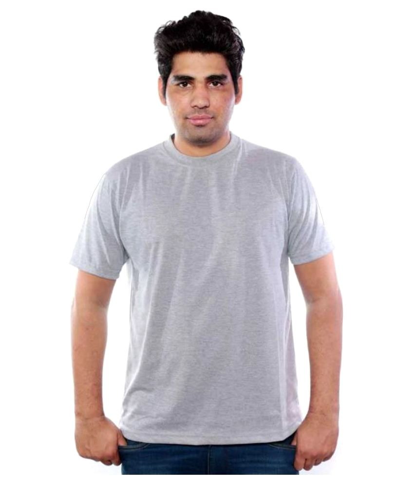 BD Fashion Grey Round T-Shirt