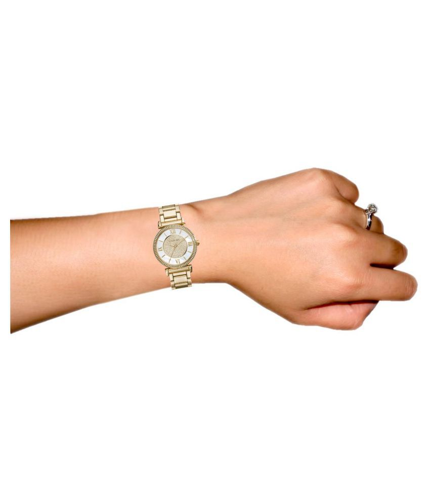 e9a78f89e9a0 Michael Kors MK3332 Analog Gold Dial Women s Watch Price in India ...