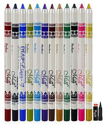 MN Perfect Eye/ Lip Liner Pencil Pack of 12 With Kajal Multicolour 1 gm
