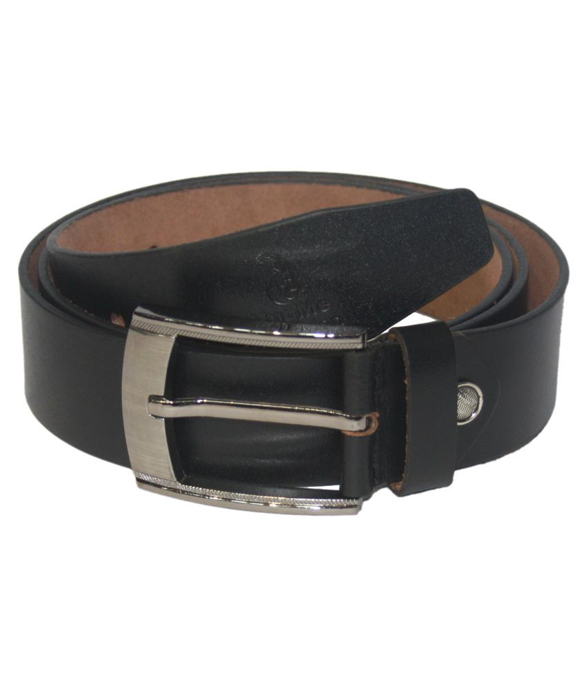 HugMe.Fashion Black Leather Formal Belts