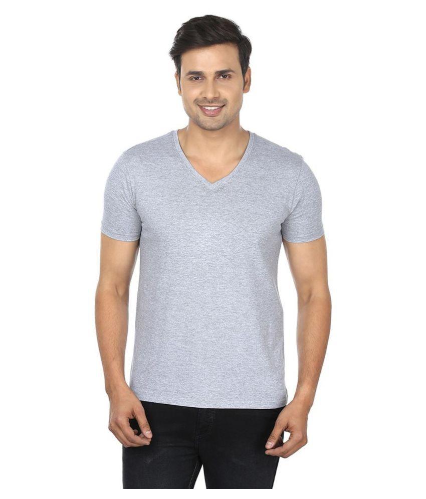 Sizzlacious Grey V-Neck T-Shirt