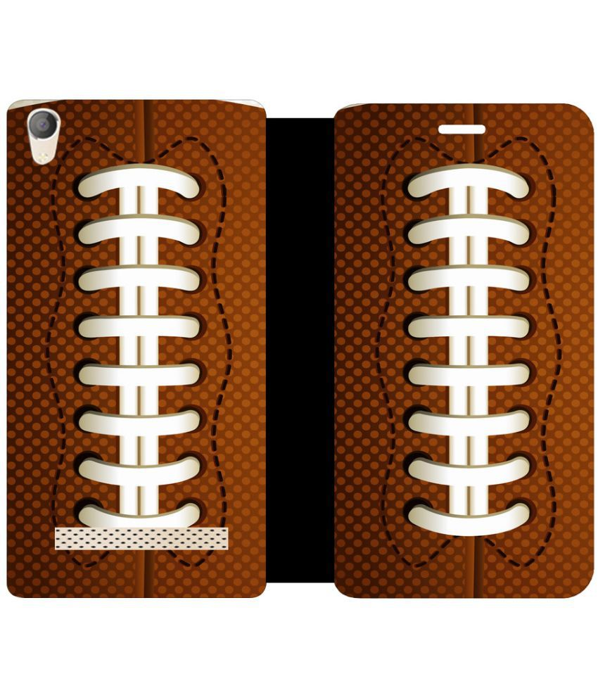 Micromax Canvas Fire 6 Q428 Flip Cover by Skintice - Brown