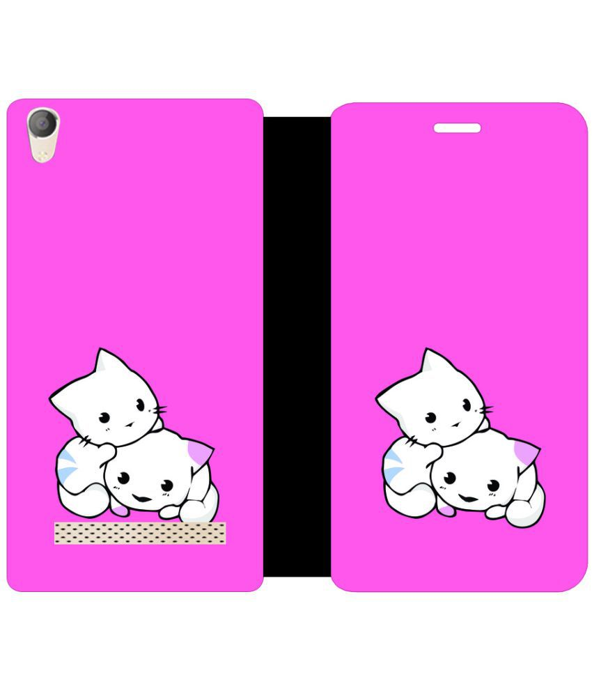 Micromax Canvas Fire 6 Q428 Flip Cover by Skintice - Pink