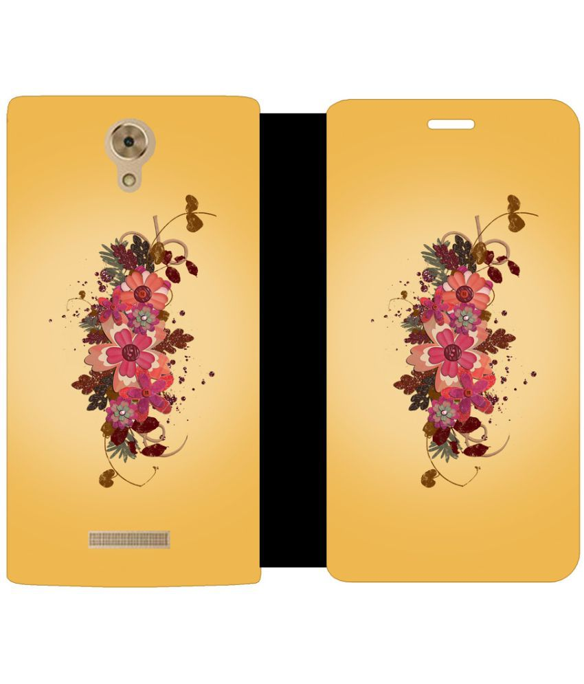 Coolpad Mega 2.5D Flip Cover by Skintice - Brown
