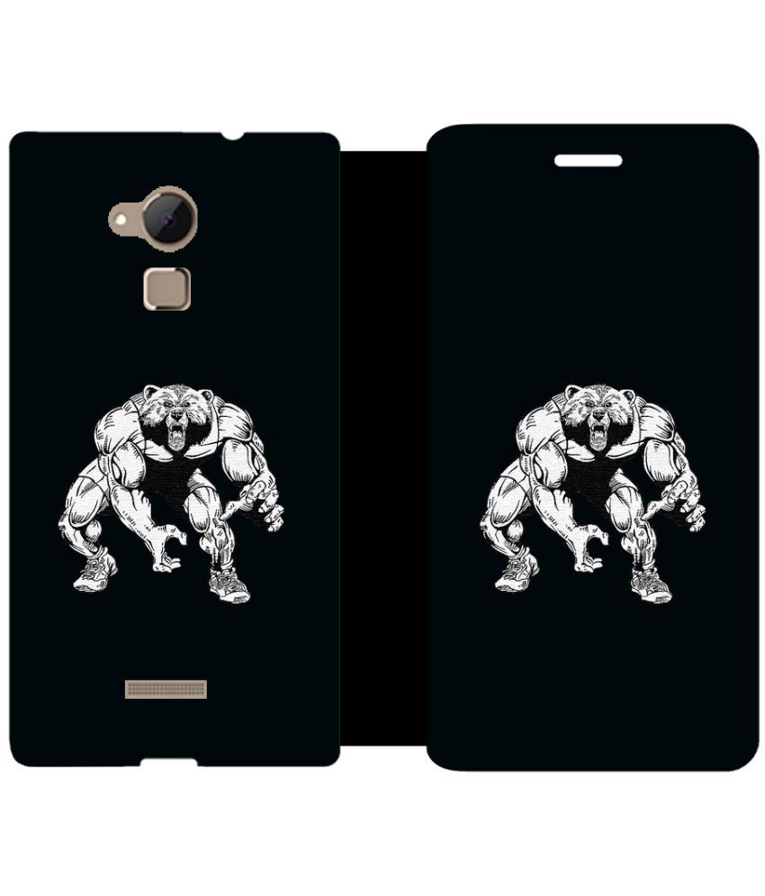 Coolpad Note 3 Flip Cover by Skintice - Black