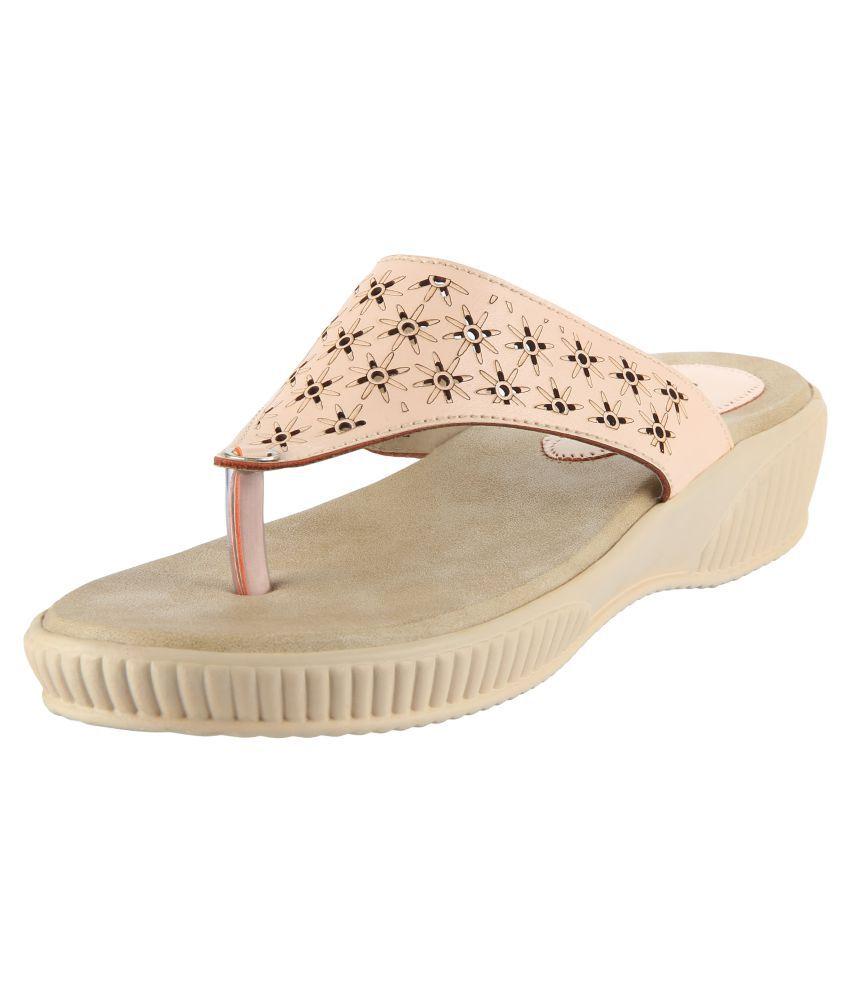 Pranisha Footwear Beige Flats