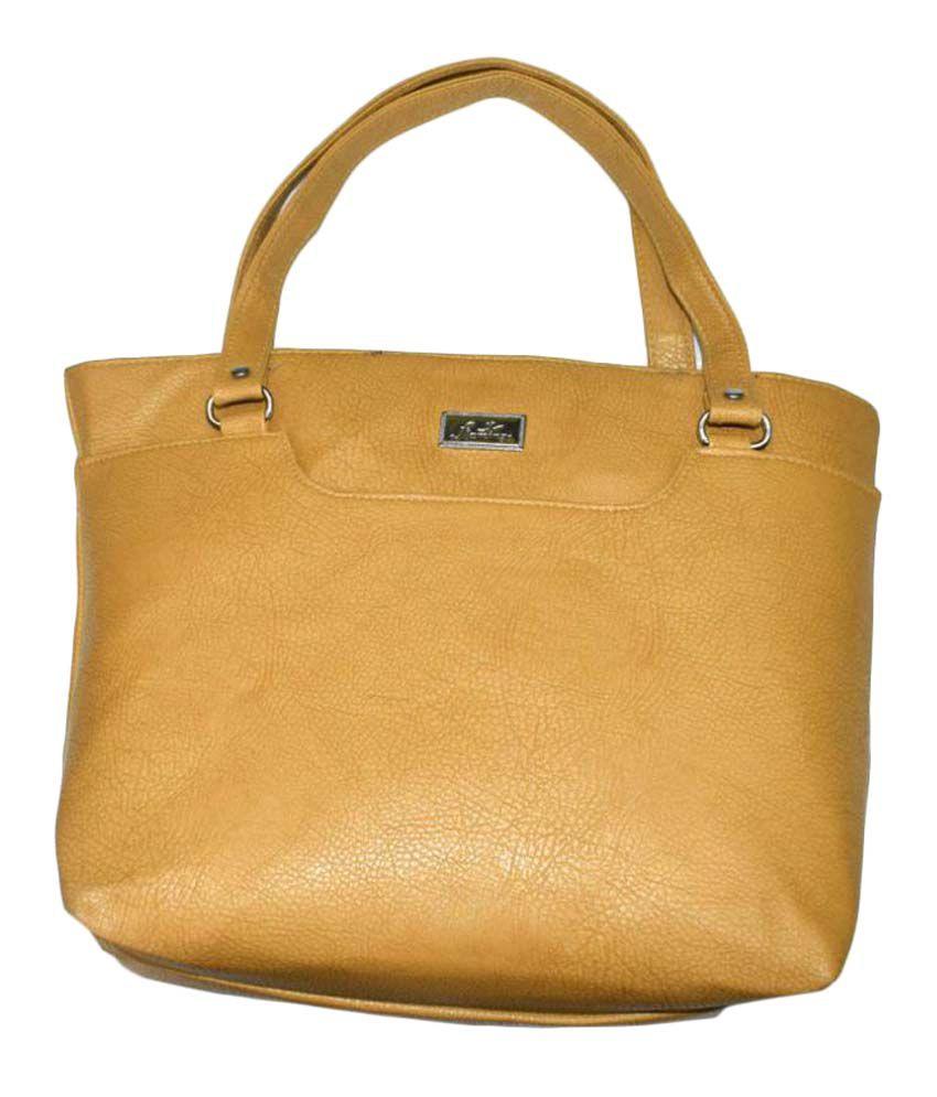 Rehan's Beige Faux Leather Shoulder Bag