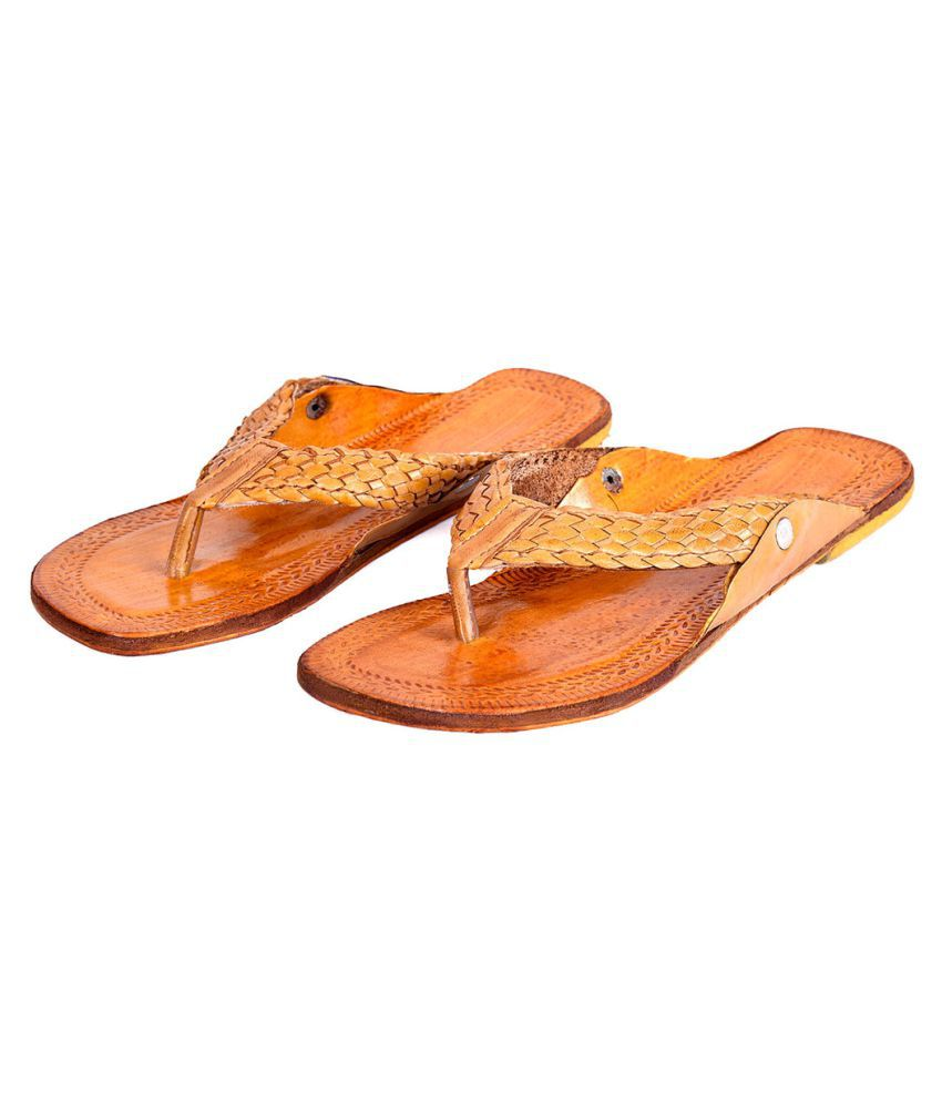 Halowishes Brown Flat Ethnic Footwear