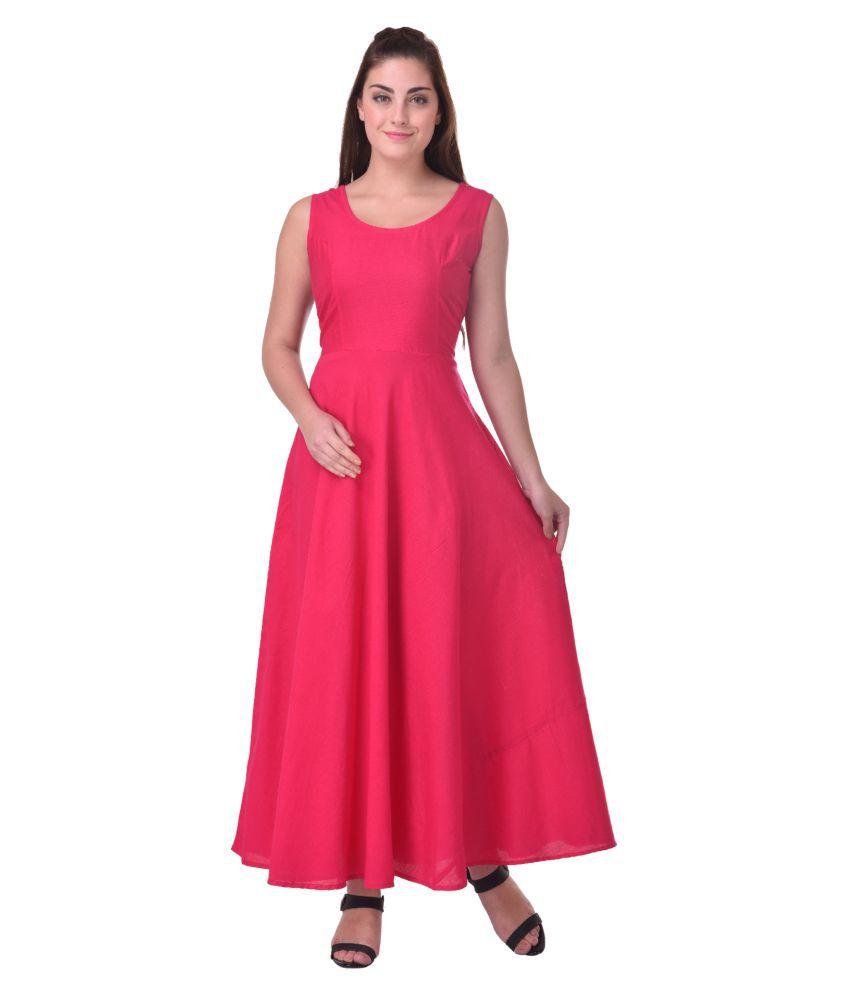 Indi Dori Pink Dupion Silk A-line Kurti