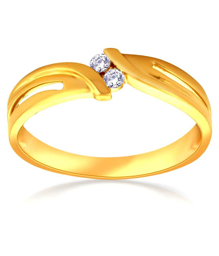 Malabar Gold and Diamonds 18k Yellow Gold Ring
