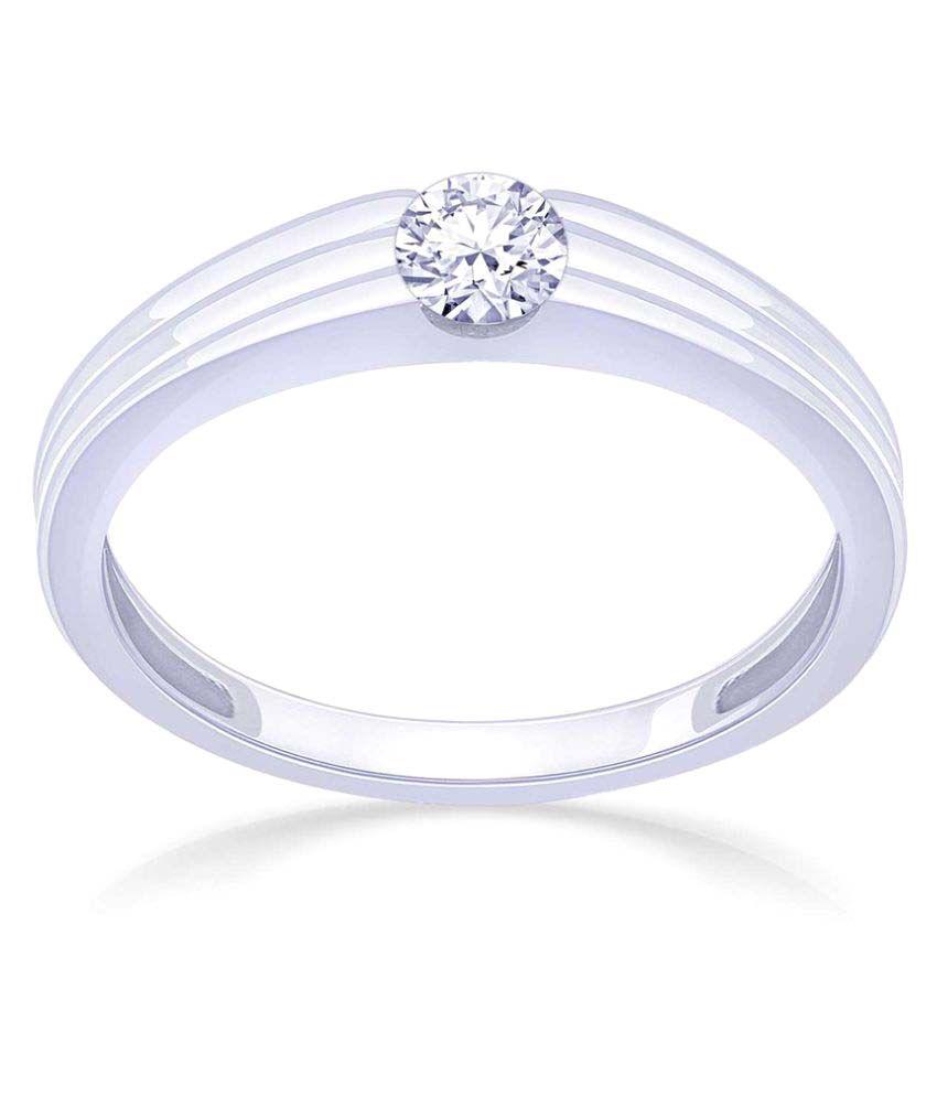 Malabar Gold and Diamonds 18k White Gold Ring
