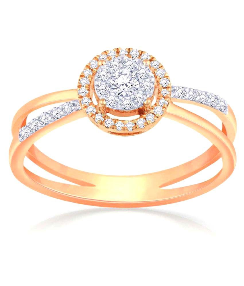 Malabar Gold and Diamonds 18k Rose Gold Ring