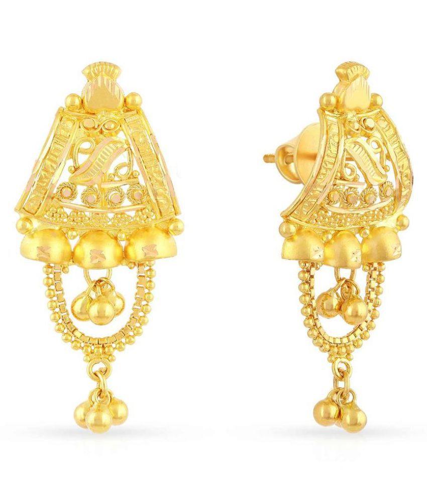 Malabar Gold and Diamonds 22k BIS Hallmarked Yellow Gold Chandeliers