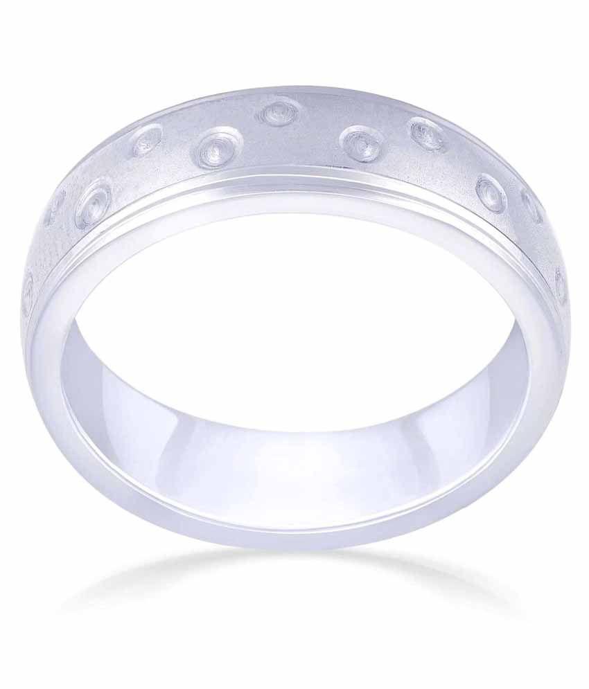 Malabar Gold and Diamonds 950Pt White Gold Ring