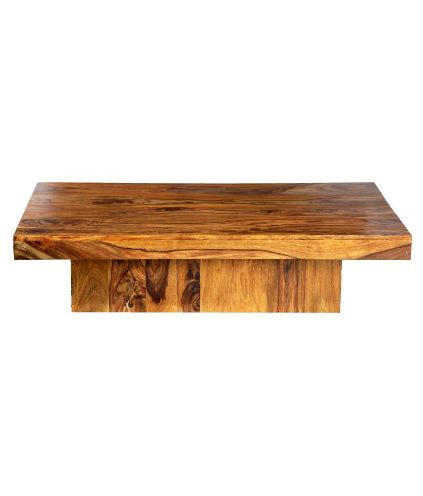 Ethnic India Art Adana Sheesham Wood Coffee Table In Honey