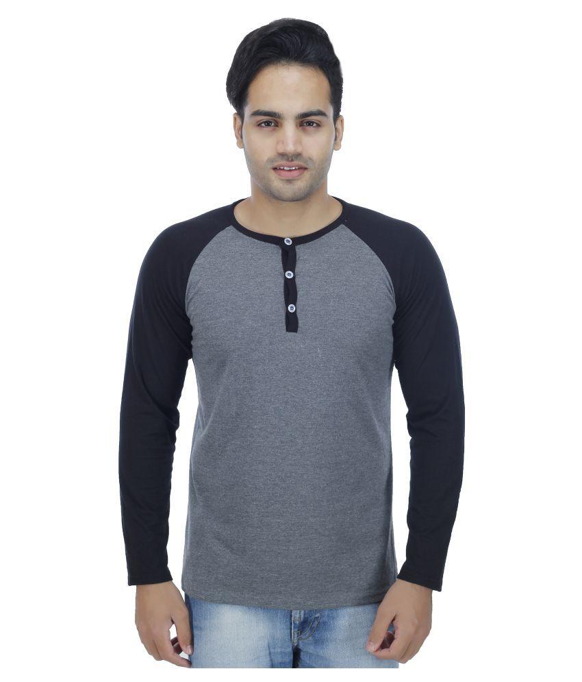 4 Aces Grey Henley T-Shirt