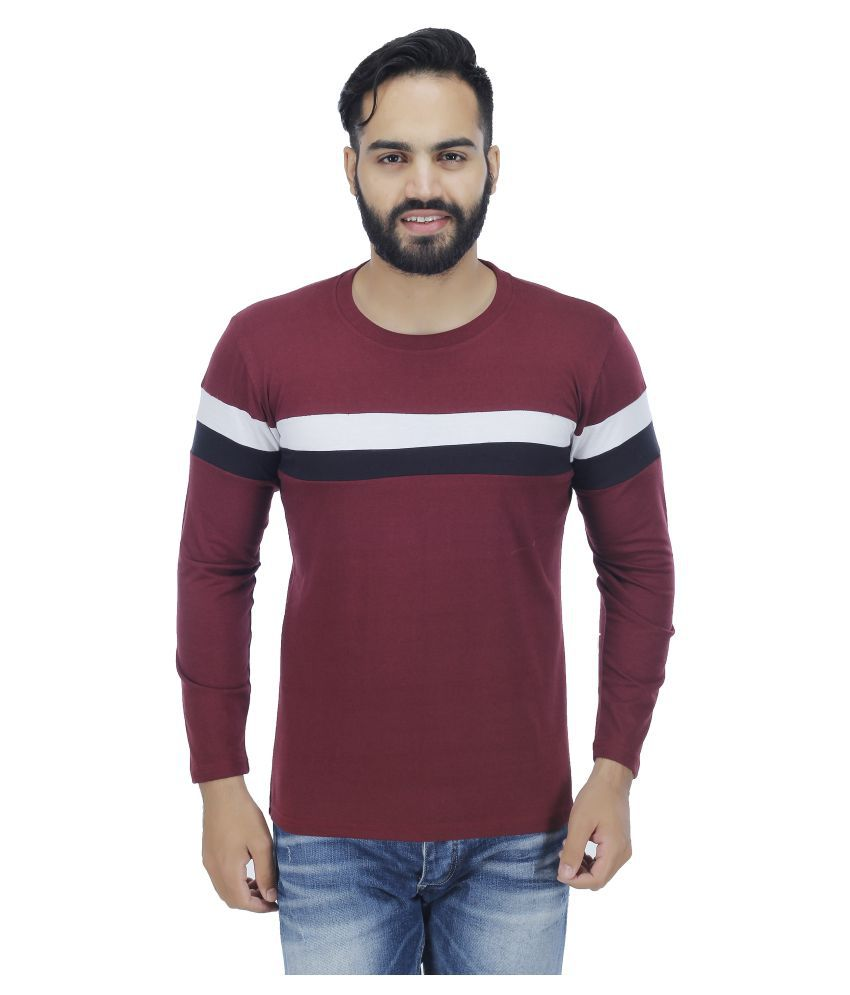 4 Aces Maroon Round T-Shirt